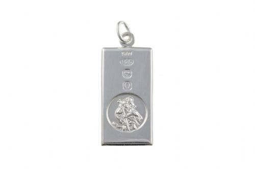 Sterling Silver Ingot St. Christopher Including Chain BU3262